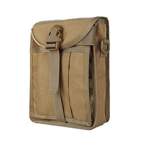 Leezo Bolsa de deporte táctica de un solo hombro, impermeable, nailon, para camping, senderismo, accesorios