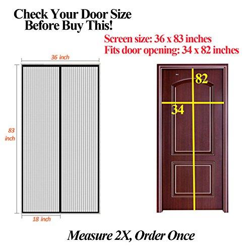 Finnhomy Magnetic Screen Door Hand Free Mesh...