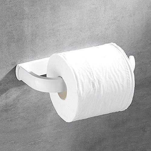 WENZHE Porte Rouleau Papier Hygiénique Toilette Salle De Bain Rack Murale En Cuivre Peinture De Cuisson Blanc, 19 * 9cm