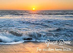 Guest book for vacation home beach: Visitors who favarite travel to sign in - Airbnb, VRBO (Guest book for vacation beach home)