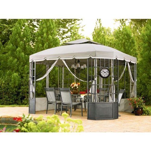 Price comparison product image Garden Winds Replacement Canopy Set for The Sears Bay Window Gazebo,  with Ultra Stitch and Dura Pockets
