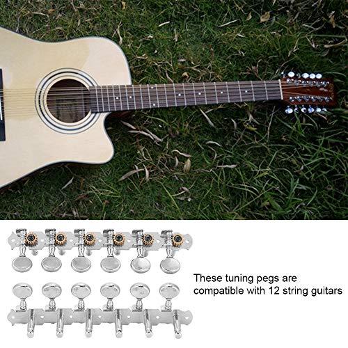 Clavijas de Afinación Tecla afinadora Botón de Cuerda para 12 Cuerda