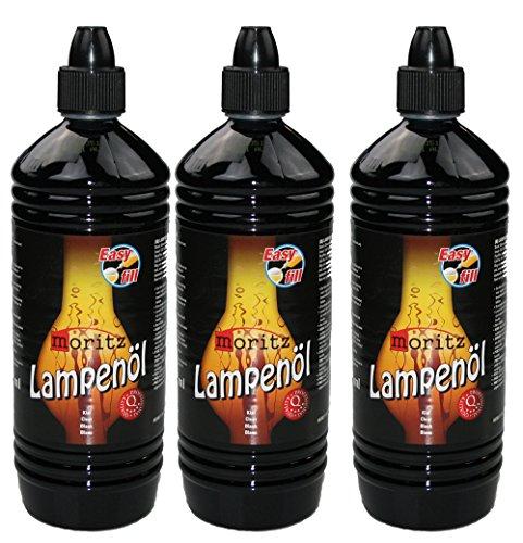 Moritz 3 Liter Lampenöl für Öllampen Bambusfackeln Gartenfackel und Wandfackeln - Wählen Sie 1/2/3/4/5/6/8/10/12/24 Liter