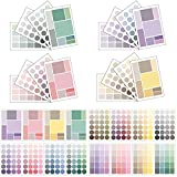 HZMM 16 Sheet Dots Square Sticker Colorful Decorative Adhesive...