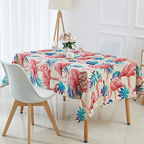 Yueyue947/Animal Flamingo Table h Manteles Tropical Palm Tree Leaves Linen Table h/racao Para Casa/Table Cover/R 140X140Cm