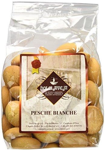 Dolci Aveja Pesche Bianche Biscotti Artigianali da Colazione - Pacco da 2 x 400 g - Totale: 800 g