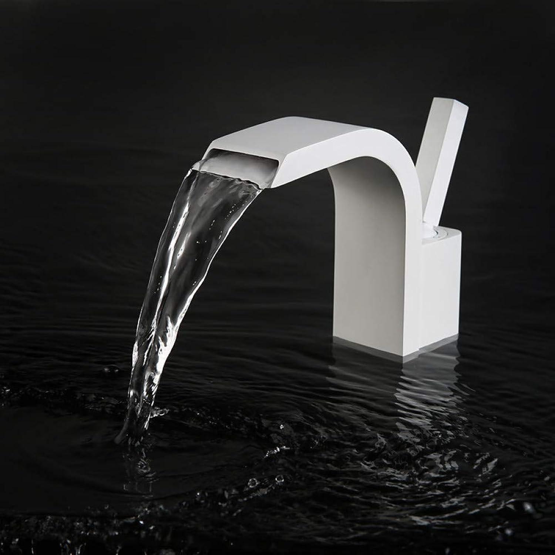 RNJDC Waschtischarmatur Bad Waschbecken Wasserhahn - Wasserfall Lackiert Oberflchen Deck Montiert Einhand EIN Loch Badarmaturen