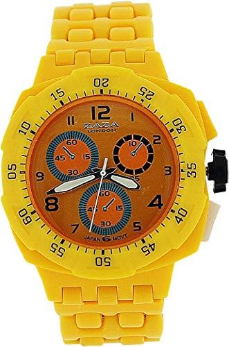 ZAZA London PL342 yellow - Orologio da polso, cinturino in plastica colore giallo