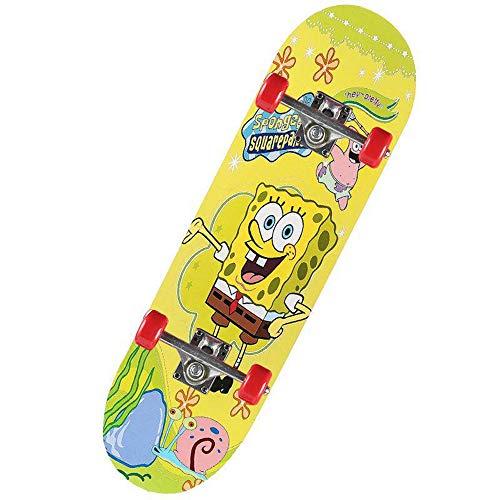 GCJJ-HSY Versión Completa De 23 Pulgadas Pro Skate, para Niñas, Niños, Adecuado para Niños con 6 A 12 Años (Bebé De Esponja)