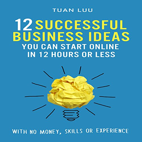 12 Successful Business Ideas You Can Start Online in 12 Hours or Less audiobook cover art