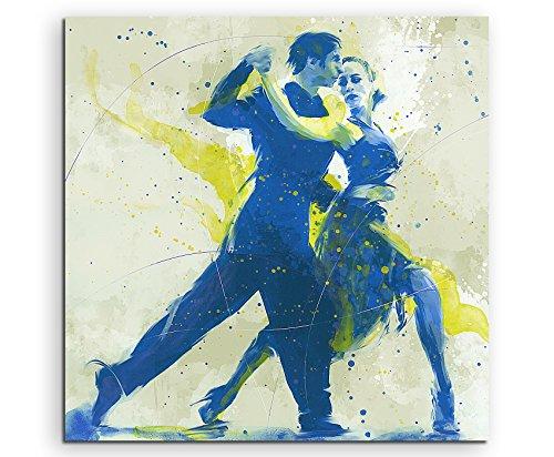 Tanzpaar 60x60cm SPORTBILDER Paul Sinus Art Splash Art Wandbild Aquarell Art