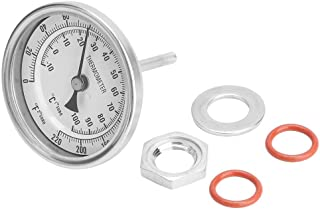 CHICIRIS Brew Thermomètre, Thermomètre Bimétallique Industriel, Thermomètre Bimétallique sans Couture pour Le Brassage de ...