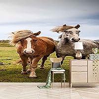 3D壁画寝室大きな壁紙リビングルームウォールステッカー写真草地動物馬レストラン家の装飾オフィス 200x140cm