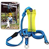 Outdoor Hanging Bungee Dog Toy - Durable Spring Pole for Pitbull & Medium to Large Dogs - Interactive Tugger for Safe & Fun Solo Play, Exercise and Tug of War - Tough Fire Hose Bite Tug Toy Included