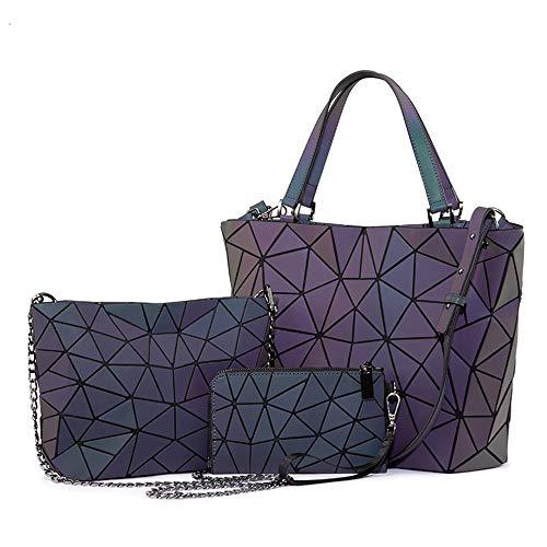 Frau Handtaschen Designer-Taschen Umhängetasche Falttasche Messenger Tasche Damen Portemonnaie Leuchtfarbe (Color : Luminous Color, Size : A)