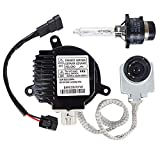 Xenon Headlight Ballast Control Unit W/Long Cord Igniter for Nissan Infiniti G35 G37 M35 M45, Replace NZMNS111LBNA, NZMNS111LANA, 28474-8991D, 28474-89904, 28474-89907, 28474-8991A, 28474-8991B