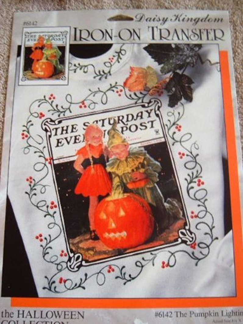 THE PUMPKIN LIGHTING - SATURDAY EVENING POST COLLECTION IRON-ON TRANSFER FROM DAISY KINGDOM #6142