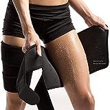 PintoMed Muslera de Compresión y soporte muslo. Cuerpo más delgado. Aumentan la producción de sudor. Ajustable. Vendaje Elástico. Protección de lesiones. Para hombres y mujeres. Para brazos o Muslos.