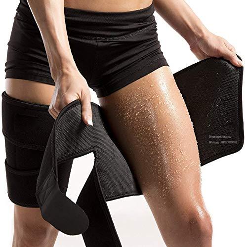 PintoMed Oberschenkelbandage, Oberschenkel Unterstützung, Erhöhen Sie die Schweißproduktion. Einstellbar. Elastischer Neoprenverband. Verletzungsschutz Für Männer und Frauen Für Arme oder Oberschenkel