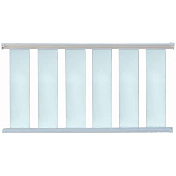 Contractor Handrail Glass Deck Railing Kit 8 ft x 36 - White