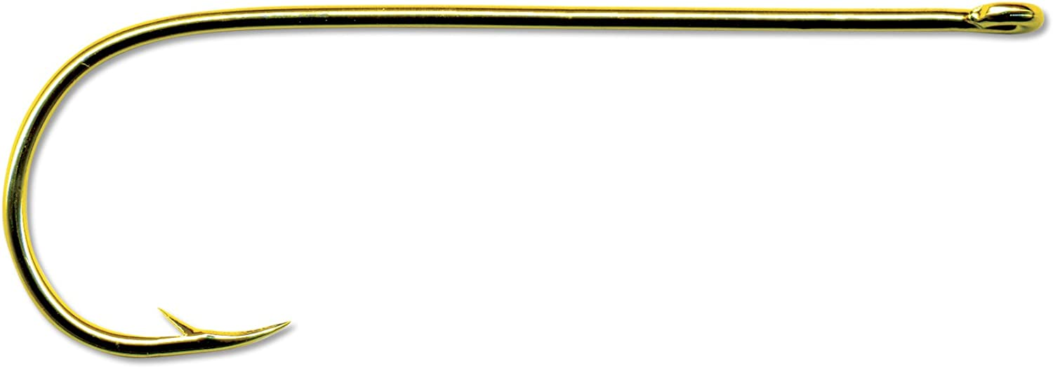 Mustad Classic Extra Fine Wire Point Bent in Aberdeen Hook (Pack of 100), gold, 6