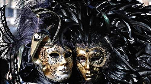 Rompecabezas de 1000 piezas Máscaras de carnaval de Venecia Gran regalo para niñas y niños