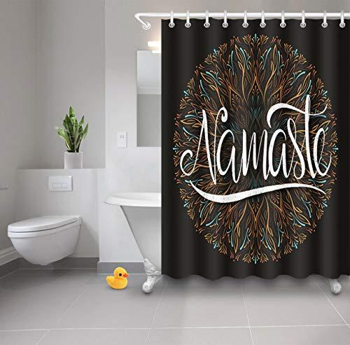 cortinas baño mandala