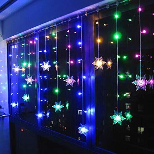 Klighten Cortina de Luces LED Decoración, 3.5 * 0.65M 96 LEDs Cortinas de Luz Impermeable, 8 Modos de Luz Perfecto Fiestas, Bodas, Casa, Jardín, Decoración Navidad, RGB