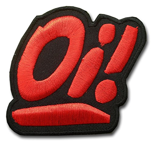Oi Skinheads red Punk Vest Jacket T shirt Sew Iron on Patch Gift Mom Dad