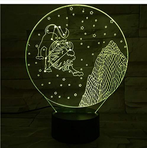 Westelijke sterrenbeeld-nachtlampje, led-aanraaksensor, meerdere kleuren, voor kinderen, baby's, nachtlampje, leeuw, tafellamp, schrijftafel, telefoon, bluetooth-besturingskleur