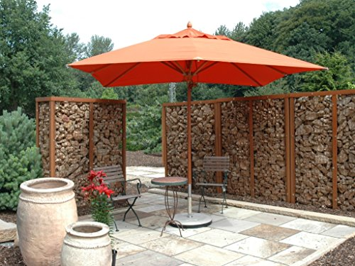 POLYACRYL-TEFLON ® hoezen - 400 x 300 cm Ø - EXCLUSIEF - HOUT zonnescherm - 100% POLYACRYL-TEFLON © UPF 50+ - zonder volant, met windopening, lederen versterking, incl. beschermhoes - Model: BANGKOK - ZANGENBERG - GERMANY - 400 x 300 cm Ø - 8-delig - 7 kleuren – bij bestelling de kleuren opgeven: beige – donkerblauw – jeans – taupe – grijs – groen – zwart – mast 48 mm Ø – verkoop: Holly ® producten Stabilo ® – holly-sunshade ® – ® in de prijs zijn de speciaalkosten inbegrepen. – Levertijd: ca. 4 weken.