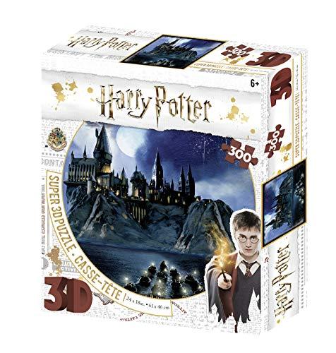 Harry Potter HP32511 Hogwarts 300 Teile 3D Effekt Puzzle, Mehrfarbig