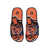 FOCO NFL Chicago Bears Mens Sport Shower Gel Slide Flip Flop Sandals, Colorblock Big Logo, XL (13-14) (FFSSNFCBBLGGEL)