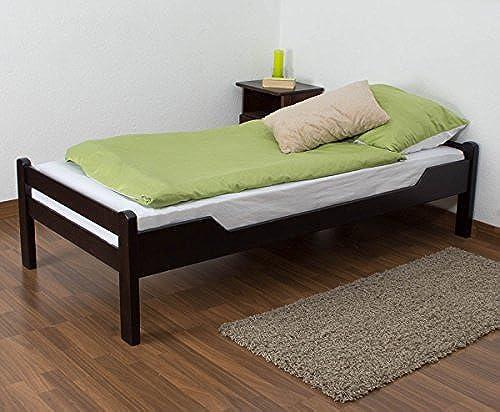 Kinderbett Jugendbett Easy Premium Line  K1 1n, Buche Vollholz massiv Schokobraun - Ma  90 x 200cm
