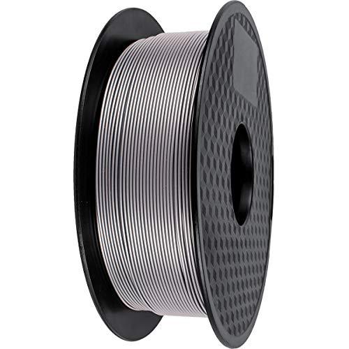Filamento PLA 1.75mm, GIANTARM PLA Filamento para impresión 3D, 1kg 1 Spool,Plata