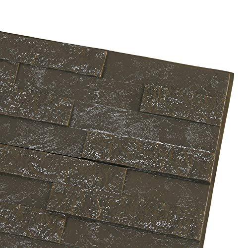 bobo4818 Wandpaneele 3D Tapete Steinoptik Ziegel Tapete Selbstklebend Wandaufkleber für Badezimmer Balkon Raufasertapete Küchen Fliesen küchenschrank (Gray)