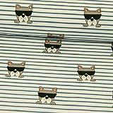 Stoffe Werning Baumwolljersey Cooler Hund mit Sonnenbrille