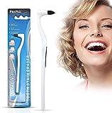 Goma de borrar, eliminador de sarro, pulidor, limpieza dental, blanqueamiento dental, higiene bucal interdental, color blanco