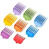 """BESTBOMG Professional 8 Color Hair Clipper Guide Combs Clipper Guard Combs Attachment #3170-400- 1/8"""" to 1 -Great Fits for Professional Most Hair Clippers Beard Trimmer"""