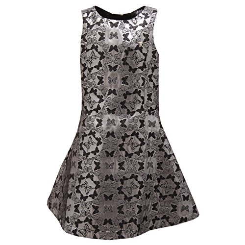 7519S abito bimba ARMANI JUNIORS fantasia nero/argento dress kid [8 YEARS]
