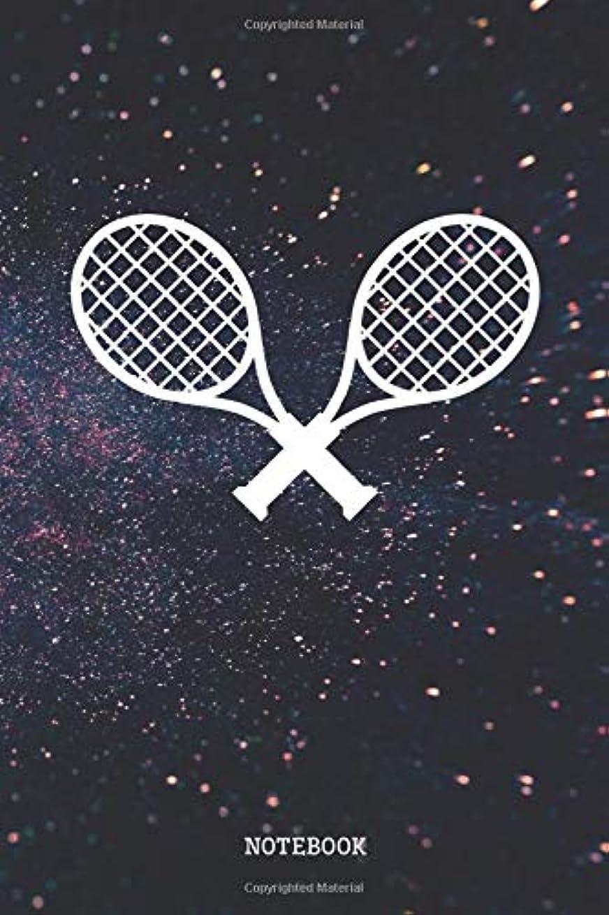 欺細胞光沢のあるNotebook: Funny Tennis Game Planner / Organizer / Lined Notebook (6