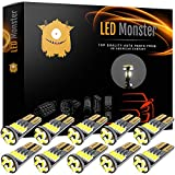 LED Monster 10x 194 Led Light Bulbs For Rv Camper Trailer Dome Map Door Courtesy License Plate - Direct Fit For T10 2825 194 168 W5W - Super Bright White 25 194 168 W5W - Rv Led Light Bulbs