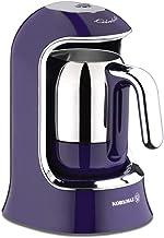 Korkmaz A860-01 Turkish Coffee Machine, 400 Watt - Purple- Bean-to-Cup Coffee Machine