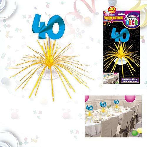 Centre de table d'anniversaire 40 ans