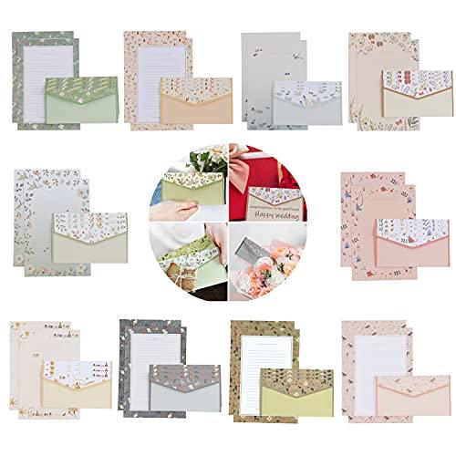 Xingsky Papel de carta con sobres,papel de carta, de Papel de Papelería ,juegos de cartas de sobre,papel de escribir 60 (PCS), sobre 30 (PCS)