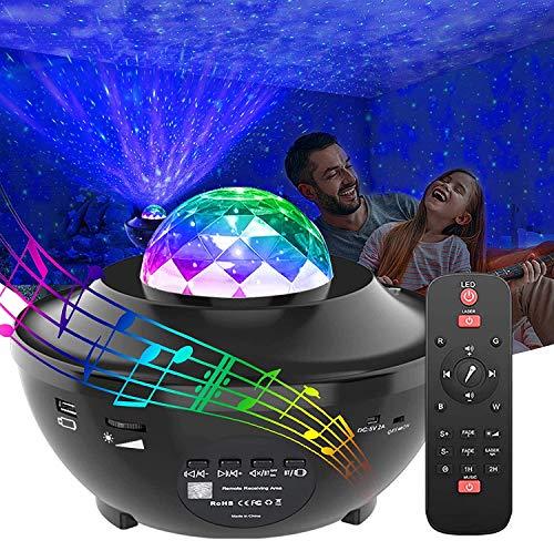 Proyector de estrellas, proyector de galaxia, luz nocturna que funciona con Smart App, 10 colores, Ocean Wave Sky Star Proyector de luz para recámara LED Nebula nube para bebés, niños y adultos