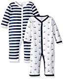Hudson Baby Unisex Baby Cotton Coveralls, Sailboat, 0-3 Months