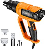 Tacklife Heat Gun, 2000W Hot Air Gun with Adjustable Temperature,...