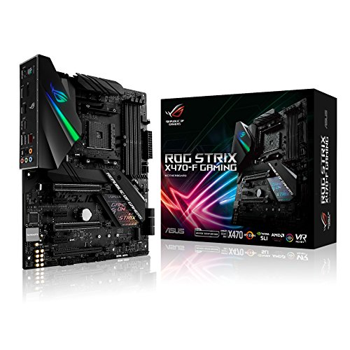 Asus ROG STRIX X470-F GAMING AMD AM4 X470 ATX - Placa base gaming con M.2 heatsink, Aura Sync RGB iluminación LED, DDR4 3600MHz , dual M.2, SATA 6Gb/s y USB 3.1 Gen 2
