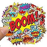 Qemsele Adesivi Bambini, 100 Pezzi Supereroe Stickers Vinili Decals Adesivo Bagaglio per Computer Portatile, Automobili, motociclette, Bicicletta, Skateboard, Bagagli, autoadesivi paraurti(Bump)